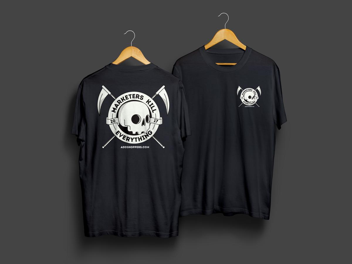 Marketers Shirt shirt vector illustration branding