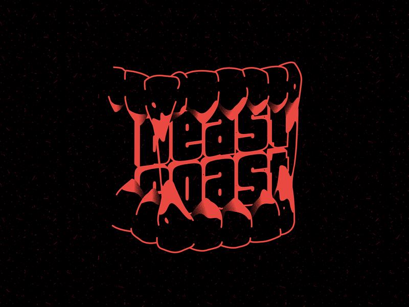 Beast Coast teeth vector illustration