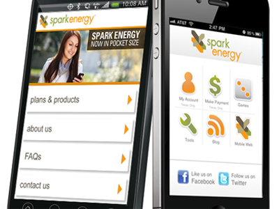 Mobile app & site energy mobile app mobile site