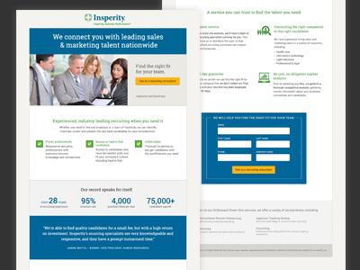 Recruting Landing Page digital marketing landing page
