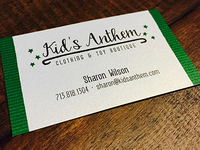 Kid's Anthem Logo & Business Card