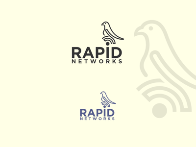 logo design rapid networks network animal logo icon vector design