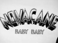 Novacane hand lettering