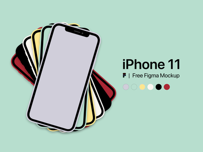 iPhone 11 - Free Figma Mockup free freebie figma purple green yellow red figma design template colors mockup iphone 11 iphone