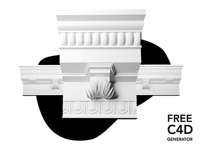 Stucco Generator for C4D room architecture 3d freebies freebie free generator stucco cinema 4d cinema4d c4d