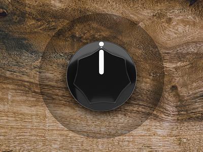 Amp Sound Knob ui design 3d cinema 4d cinema4d button design buttons button sound wood music knobs knob