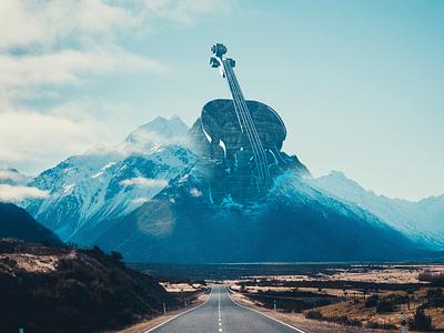 RoadTracks Car App 3d car roads road mountains mountain violin music app music keyvisual cinema 4d cinema4d design branding