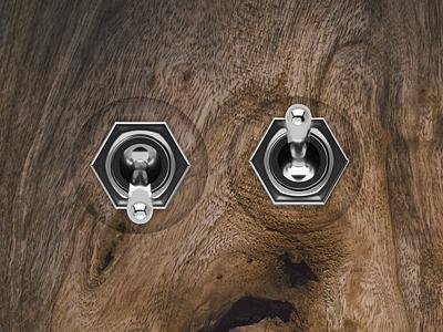 Switch knobs knob music sound chrome metalic wood button design button switch button switch
