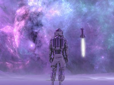 Let's go! blackhole stars nebula rocket deepspace universe nasa spacex explore space 3d cinema 4d cinema4d