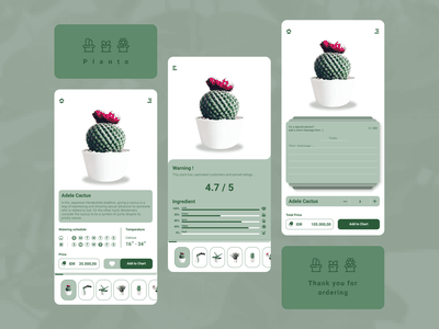 Plant Shop design ux ui mobile app design app