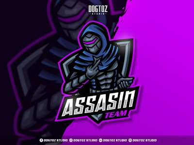 Assasin Mascot Logo vector logo illustration design character ninja mascot character cartoon twitch gaming esport assasin mascot