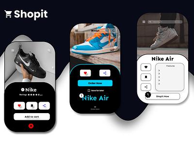 Shopit typography ux ui logo app design