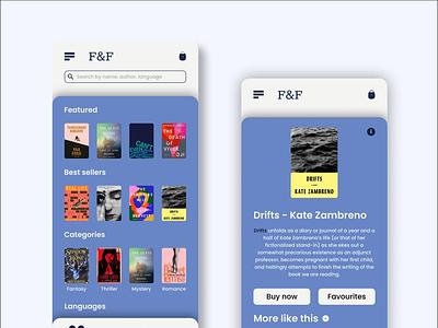 Book Store app app ux ui design mobile design mobileapp
