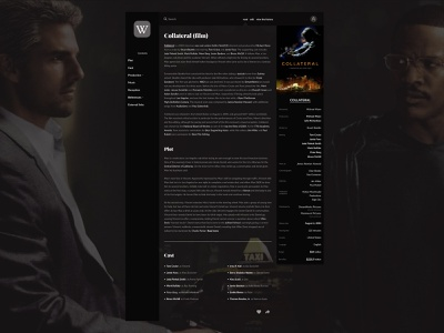 Wikipedia redesign article hitman thriller film flick action concept design movie article wikipedia uxui ui redesign