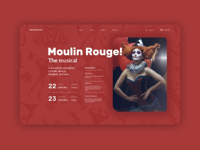 Moulin Rouge design concept theatrical mask poster poster art modern show theatre circus musical uidesign ui concept