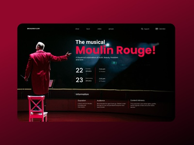 Moulin Rouge design concept poster art poster show circus musicals musical theatre theater ui design concept uidesign