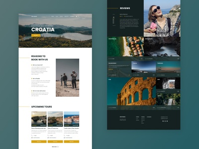Landing page for a travel agency minimalism croatia about us landing page concept design uiux traveling travel agency sea trips tours