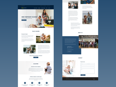 Redesigned landing page minimalism agency redisign concept uiux housing shelter temporary family families modern minimal landing page