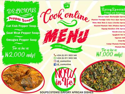 Online Food Delivery menu food menu illustration branding logo graphic desi design