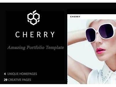 Cherry a fresh fruit Template