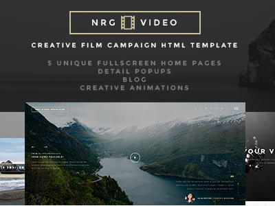 NRGproducer - Video Producer HTML5 Template