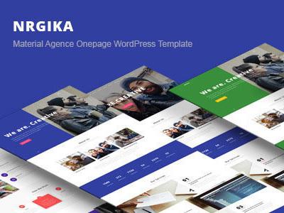 NRGika - Premium OnePage Portfolio WordPress Theme