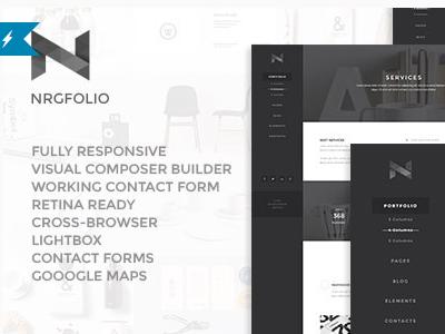 NRGfolio - Premium Portfolio WordPress Theme