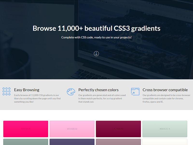 CSSGradients - Responsive CSS Gradient Script by NRGThemes on Dribbble