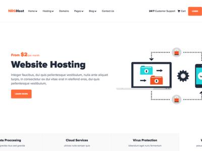 NRGhost - Flat Responsive Hosting Theme + WHMCS