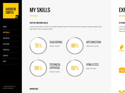 MEE - Responsive CV Resume Theme