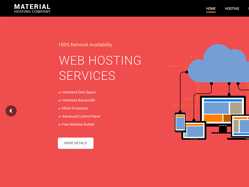 Material Web Hosting WordPress Theme + WHMCS by NRGThemes on