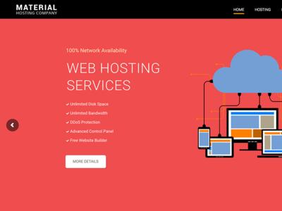 Material Web Hosting WordPress Theme + WHMCS
