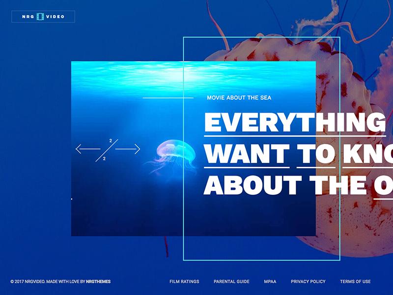 NRGVideo - Movie Film Marketing WordPress Theme by NRGThemes