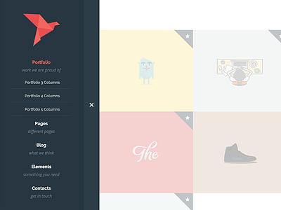 Flying - Interactive Portfolio WordPress Theme web design studio resume responsive portfolio photographer photo lightbox interactive gallery fullscreen freelancer