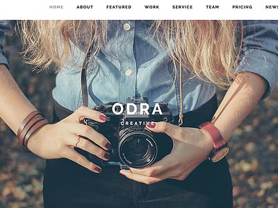 ODRA - Creative Multi-Purpose WordPress Theme web design portfolio photos photography photographer multipurpose minimal agency business gallery freelancer creative