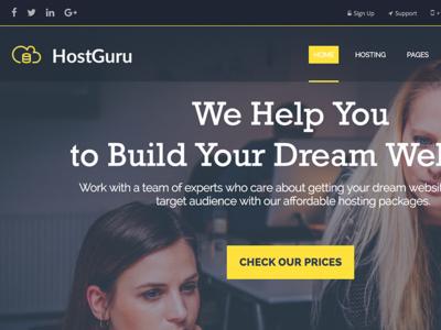 HostGuru - Responsive Hosting WordPress Theme + WHMCS