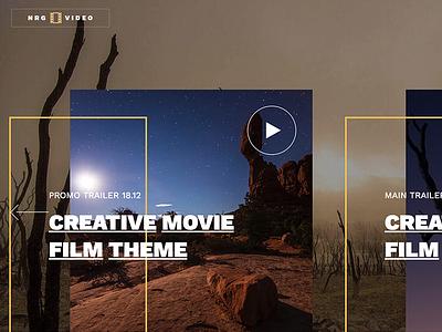 NRGVideo - Movie Film Marketing WordPress Theme wordpress video trailer studio promotion production producer portfolio movie marketing full screen film