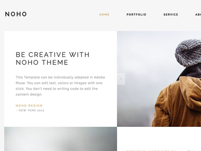 Noho - Creative Agency Portfolio WordPress Theme parallax one page muse multi-purpose modern minimal creative corporate clean business bootstrap agency