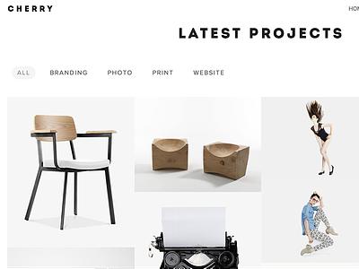 Cherry - Multi-Purpose Portfolio WordPress Theme studio shop portfolio photos photography multipurpose modern minimal gallery freelancer business agency