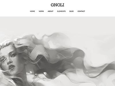 Portfolio WordPress Theme - Gnoli wordpress web design studio portfolio photos photography parallax modern minimal masonry gallery agency