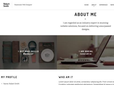 Robert Smith - Responsive Resume CV Theme