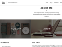 Robert Smith - Responsive Resume CV Theme