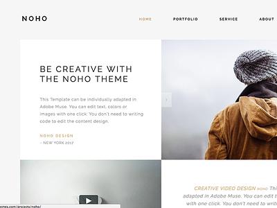 Noho - Creative Agency Portfolio WordPress Theme portfolio photography parallax one page muse modern minimal digital agency design creative agency creative agency