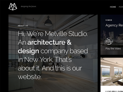 Melville – Architecture WordPress Theme wordpress portfolio photography interior design houses homes design decor construction business architecture architect