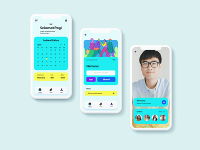 Online class ui illustration userinterface design app ui