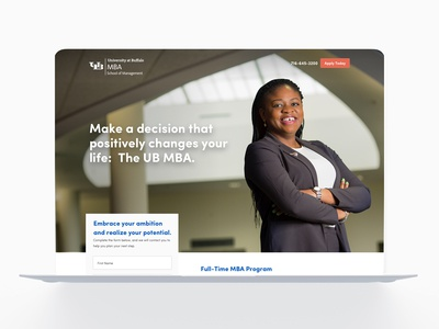UB MBA Landing Pages