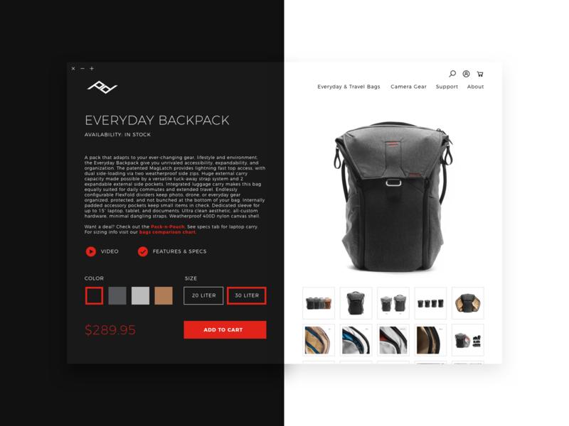 Daily UI 012  •  Single Product daily ui shop ecommerce single product product black white website ux  ui ui ux minimal