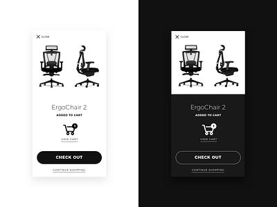 Daily UI 016 • Pop Up mobile cart product autonomous pop up chair daily ui black white minimal ux  ui ux ui