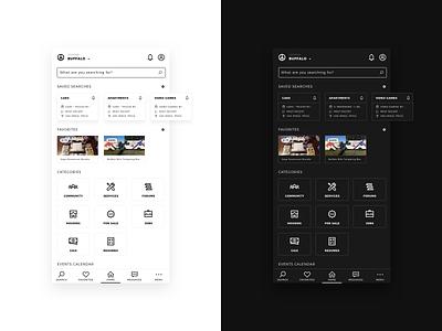 Daily UI 22 • Search mobile craigslist search app daily ui black white minimal ux  ui ux ui