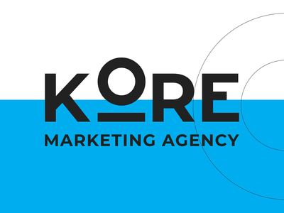 Kore Marketing Agency vector minimal branding logo logotype blue black white brand